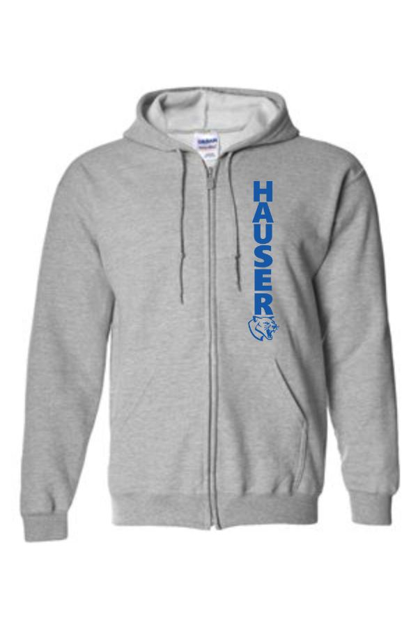 Full-Zip Hooded Sweatshirt -Light--186