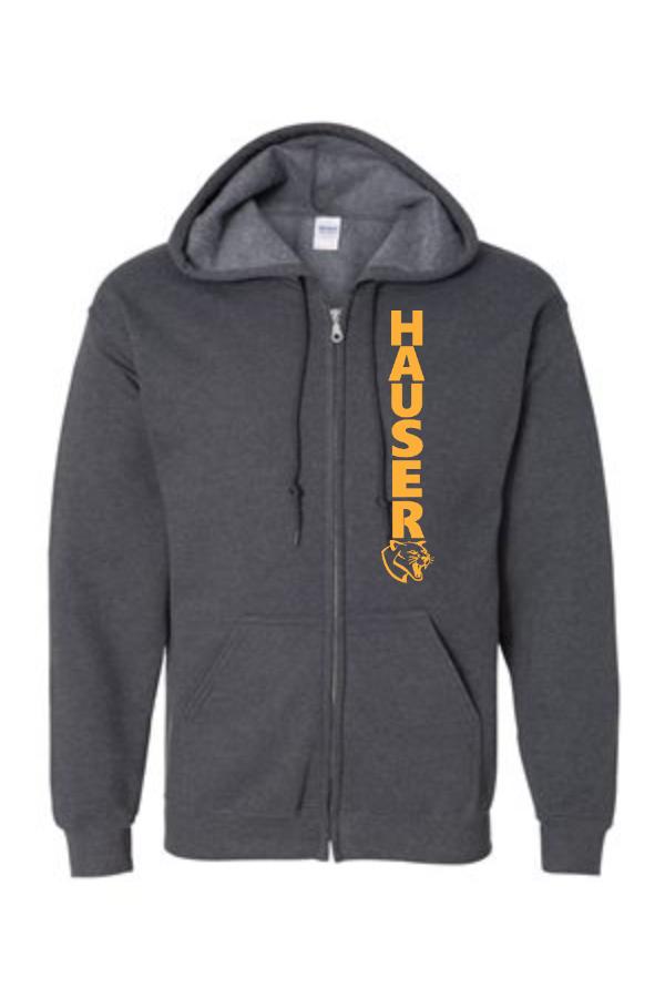 Full-Zip Hooded Sweatshirt-Dark- -186