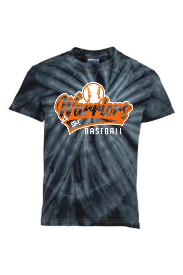 SBL Baseball Script Tail Tie Dye Short Sleeve T-Shirt