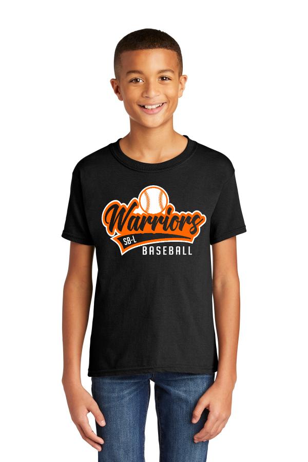 Warrior Baseball Script Tail Youth Tee