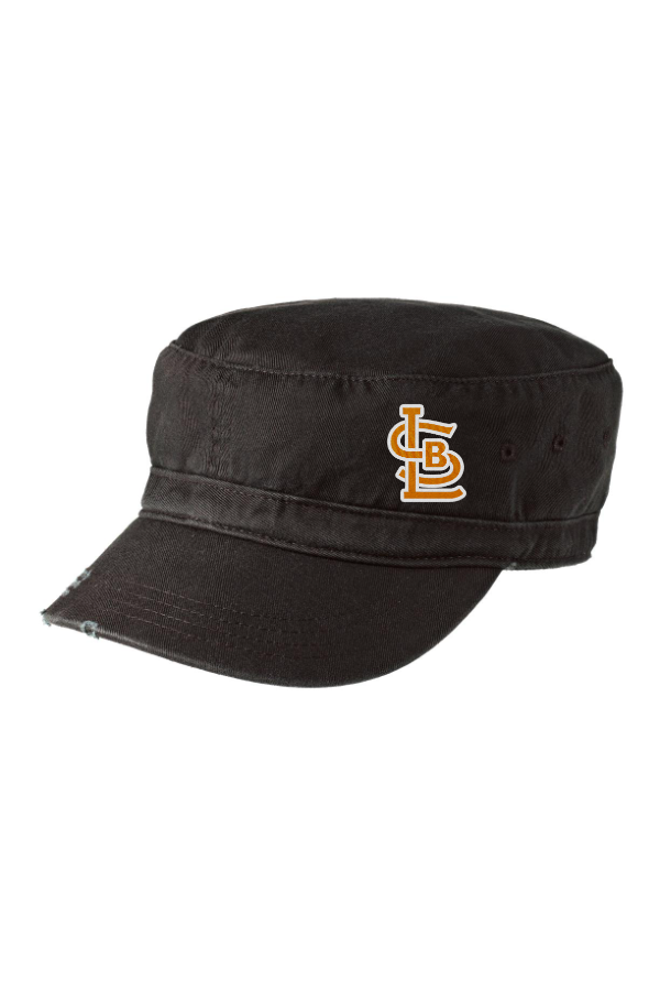 SBL Baseball Distressed Military Hat with Glitter Print Logo