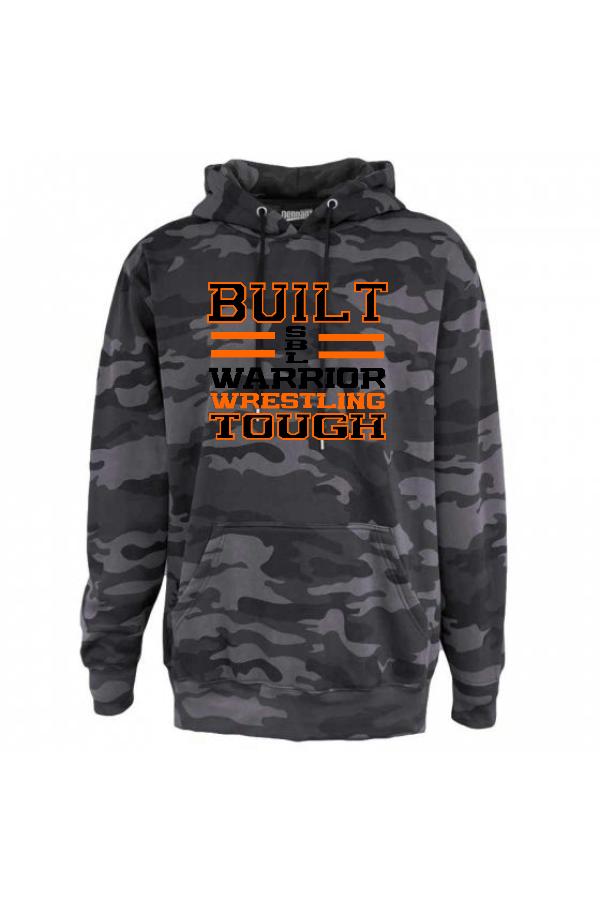 Warrior Wrestling Black Camo Hoodie