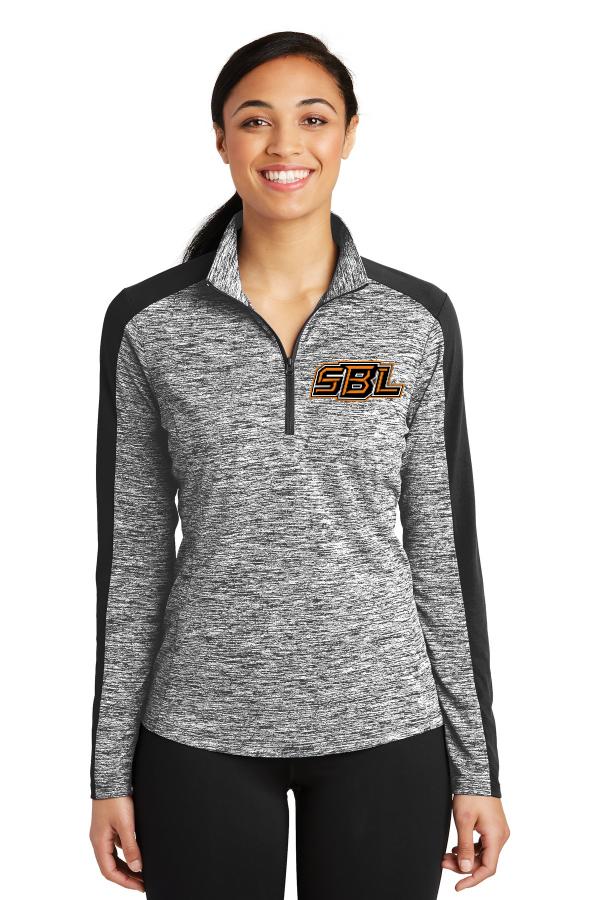 SBL Logo Electric Heather Ladies 1/4 Zip Pullover