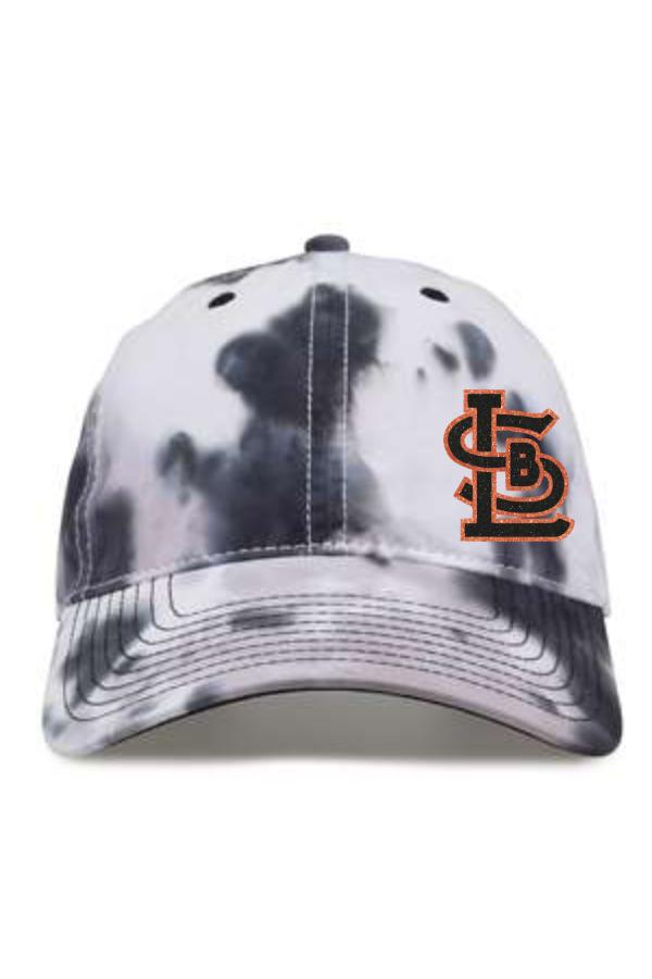 SBL Baseball Tie-Dyed Trucker Hat with Glitter Print Logo