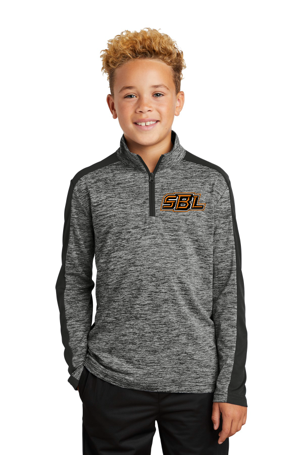SBL Logo Electric Heather Youth 1/4 Zip Pullover