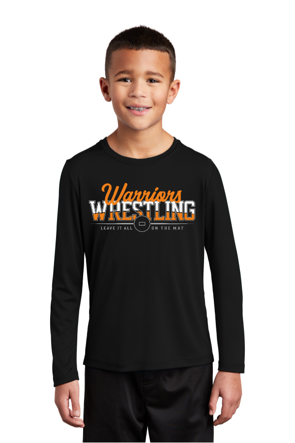 Leave it all on the Mat Youth Long Sleeve Performance Tee